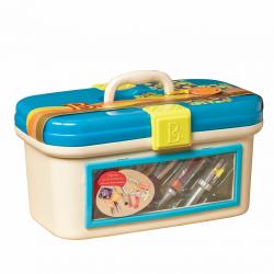 Набор игровой медицинский B.Toys (Battat) с голубой крышкой, фото , изображение 2