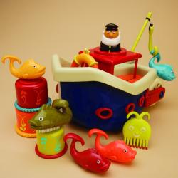 Набор для ванны B.Toys (Battat) «Fish & Squish», фото , изображение 3