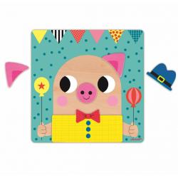 """Пазл магнитный """"Животные"""": 30 элементов и 6 карточек, фото , изображение 8"""