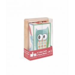 """Кубики """"Лесные животные"""" в деревянной коробке; 6 элементов, фото , изображение 5"""