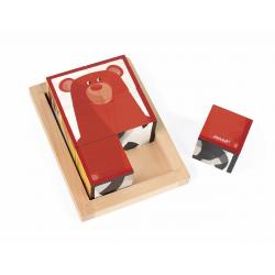 """Кубики """"Лесные животные"""" в деревянной коробке; 6 элементов, фото , изображение 6"""