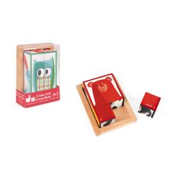 """Кубики """"Лесные животные"""" в деревянной коробке; 6 элементов, фото"""