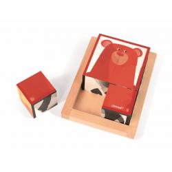 """Кубики """"Лесные животные"""" в деревянной коробке; 6 элементов, фото , изображение 7"""