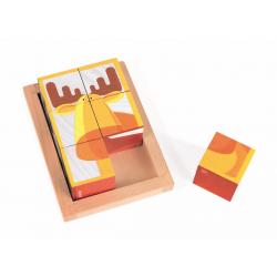 """Кубики """"Лесные животные"""" в деревянной коробке; 6 элементов, фото , изображение 8"""