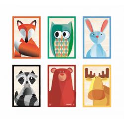 """Кубики """"Лесные животные"""" в деревянной коробке; 6 элементов, фото , изображение 2"""