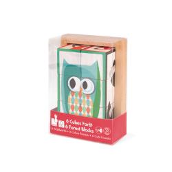 """Кубики """"Лесные животные"""" в деревянной коробке; 6 элементов, фото , изображение 9"""