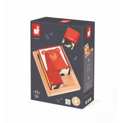 """Кубики """"Лесные животные"""" в деревянной коробке; 6 элементов, фото , изображение 11"""