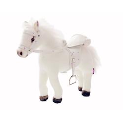Gotz Белая лошадь, с седлом и уздечкой, со звуком, фото