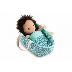 """Кукла мягкая """"Ари"""" в переноске, фото , изображение 4"""