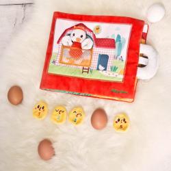 """Книжка мягкая """"Курочка Полетт ищет своих цыплят"""", фото"""