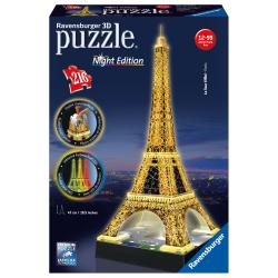 """RAVENSBURGER 3D Пазл """"Ночная Эйфелева башня"""", 216 эл. 12579, фото"""