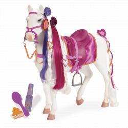 11572 Лошадь 50 см с длинной гривой (порода Камарилло), фото