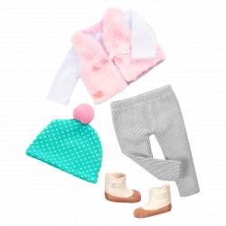 """Комплект одежды для куклы """"Прохладный день"""" с шапкой, фото"""