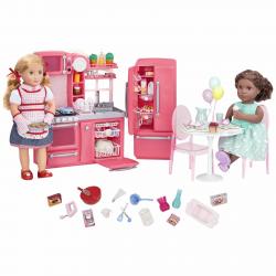 """Набор игровой """"Кухня"""" с аксессуарами; розовый, фото , изображение 4"""