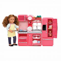 """Набор игровой """"Кухня"""" с аксессуарами; розовый, фото , изображение 3"""