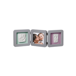 """Рамочка тройная """"Модерн"""" с 4 цветными подложками; серый, фото"""