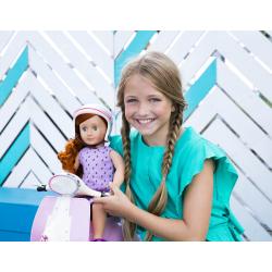 Скутер со шлемом для куклы 46 см; розовый, фото , изображение 6