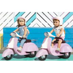 Скутер со шлемом для куклы 46 см; розовый, фото , изображение 5