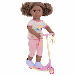 """Комплект одежды ДеЛюкс """"Путешественница"""" с разноцветным самокатом, фото , изображение 3"""