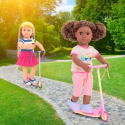 """Комплект одежды ДеЛюкс """"Путешественница"""" с разноцветным самокатом, фото , изображение 4"""