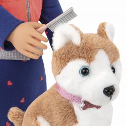 Кукла 46 см Лесли с собакой, фото , изображение 2