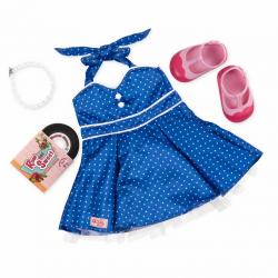Комплект одежды для куклы с виниловым диском, фото