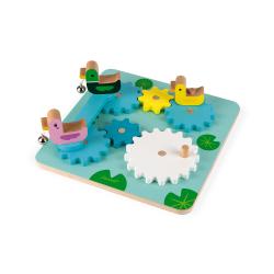 Игрушка развивающая с шестеренками «Утиный пруд», фото