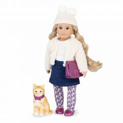 Кукла 15 см Лилит с кошкой Кловер, фото