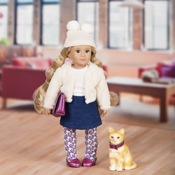 Кукла 15 см Лилит с кошкой Кловер, фото , изображение 3