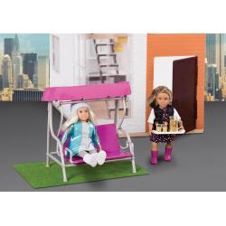 Дом для куклы с аксессуарами; пластмассовый, фото , изображение 5