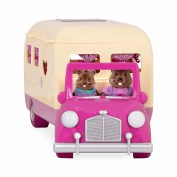 """Набор игровой """"Дом на колёсах"""" с аксессуарами розовый, фото , изображение 3"""