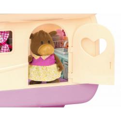 """Набор игровой """"Дом на колёсах"""" с аксессуарами розовый, фото , изображение 5"""