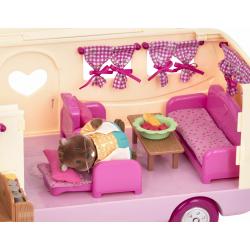 """Набор игровой """"Дом на колёсах"""" с аксессуарами розовый, фото , изображение 6"""