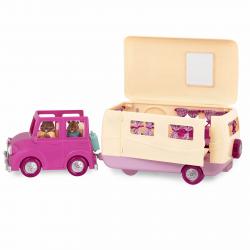 """Набор игровой """"Дом на колёсах"""" с аксессуарами розовый, фото , изображение 8"""
