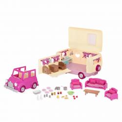 """Набор игровой """"Дом на колёсах"""" с аксессуарами розовый, фото , изображение 9"""