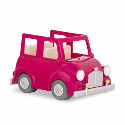 Машина с чемоданом; розовый, фото