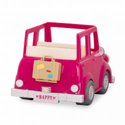 Машина с чемоданом; розовый, фото , изображение 3