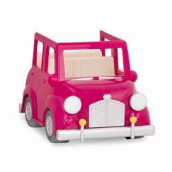 Машина с чемоданом; розовый, фото , изображение 4