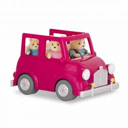 Машина с чемоданом; розовый, фото , изображение 7