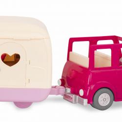 Машина с чемоданом; розовый, фото , изображение 9