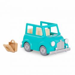 Машина с чемоданом; голубой, фото