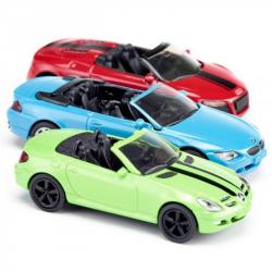 SIKU Набор из 3 кабриолетов (Mercedes SLK, Audi R8 Spyder, BMW 645i) 6314, фото