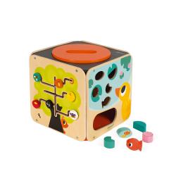 Куб развивающий с комплектом игр: 8 видов активностей, фото , изображение 5
