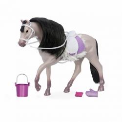 """Лошадь породы """"Андалузская"""" с аксессуарами; серая, фото"""