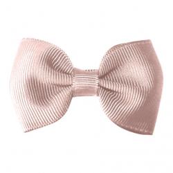 "115-CGC-04 Заколка-зажим ""Bowtie Bow"" маленькая, коллекция ""Classic Grosgrain"" светло-розовая, фото"