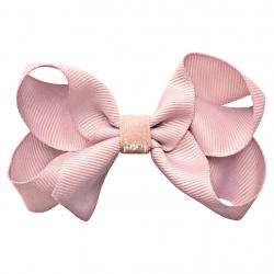 """115-COG-02 Заколка-зажим """"Boutique Bow"""" средняя, коллекция """"Colored Glitter"""" светло-розовая, фото"""