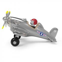 485 Игрушечный самолет, серебристый, фото