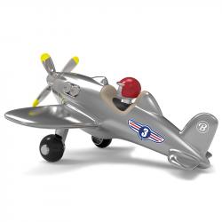 485 Игрушечный самолет, серебристый, фото , изображение 2