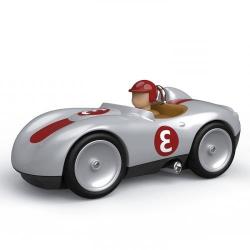 489 Игрушечная спортивная машинка, серебристая, фото