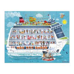 """Набор пазлов """"Морской круиз"""" большой в круглом чемодане: 2 пазла, фото , изображение 3"""